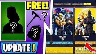 """*NEW* Fortnite Update!   """"Season Shop"""" Return, Buy Skins w/ XP, Free S11 Skin!"""