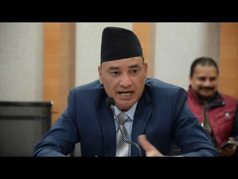 (Nara Bahadur Thapa, Executive Director, Nepal Rastra... 12 minutes.)