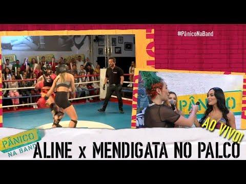 Pânico na Band - AO VIVO: MENDIGATA ARMA BARRACO COM ALINE MINEIRO