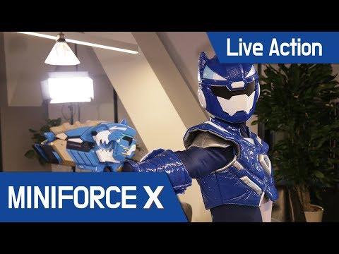 [MiniForceX] Live Action - Miniforce X weapon / weapon test / balloon / fruit / cup / Nerf