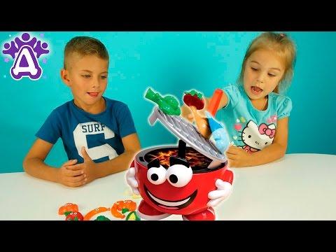 Барбекю пати для детей Жарим овощи и получаем призы  Barbecue Party Game for children Игры для детей (видео)