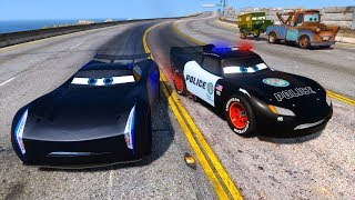 Video Police Car Lightning McQueen vs Jackson Storm - Hot pursuit - Police Chase - Cars and Friends MP3, 3GP, MP4, WEBM, AVI, FLV April 2018