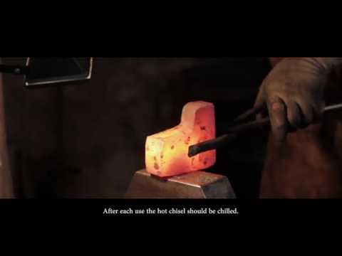 How to forge an axe: Step by step. AUTINE and bladesmith John Neeman