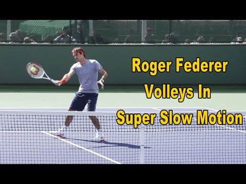 Roger Federer Volleys In Super Slow Motion