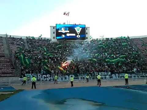 Asi comenzaron los incidentes entre Barristas de SW y CC #FinalSupercopa - Los Panzers - Santiago Wanderers