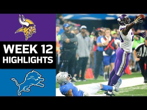 Video: Vikings vs. Lions | NFL Week 12 Game Highlights