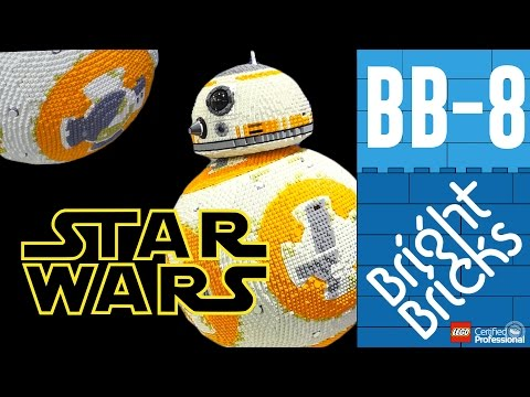 Time Lapse Video of a LifeSize BB8 Being Built Out of LEGO