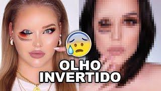 DESAFIO MAQUIAGEM DO OLHO INVERTIDO   Makeup Challenge