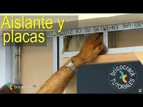 Construir tabiques de yeso laminado (Pladur) 2: aislante y placas (Bricolaje BricocrackTV)