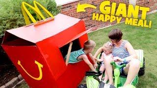 Video McDonald's Happy Meal PlayHouse! DIY Drive Thru Prank & Backyard Family Fun! MP3, 3GP, MP4, WEBM, AVI, FLV Agustus 2017