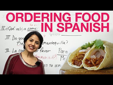 spanish - Learn to order food and drinks in Spanish. Sound as if you were born eating tacos and Coronas. Avoid making common mistakes while ordering in Spanish. Use th...