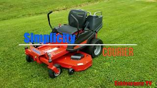 1. Simplicity Courier Zero Turn Mower