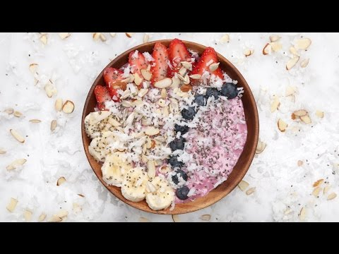 Breakfast: Start your day right with a mixed berry smoothie bowl