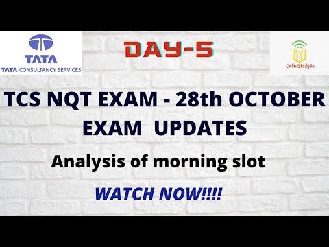 TCS nqt 2021 28th october exam analysis   8-11 am shift updates