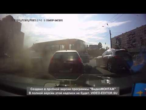 Авария с автобусом в Питере