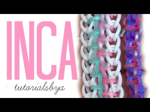 HOOK ONLY Inca Rainbow Loom Bracelet Tutorial | New Loomless How To