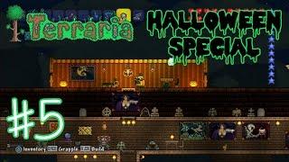Playing Terraria (Part 5) Making My PUMPKIN ROOM!! (KID GAMING)
