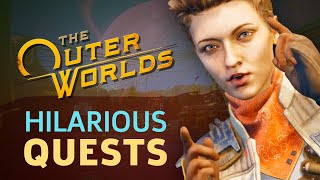 The Outer Worlds Devs Show Us Some Hilarious Early Game Quests by GameSpot