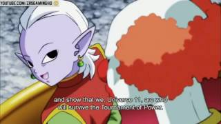 OMNI KING ALLOW GOKU AND TOPPO TO FIGHT