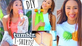 Easy and Quick DIY T Shirts Inspired by Tumblr Photos! ☼ - YouTube