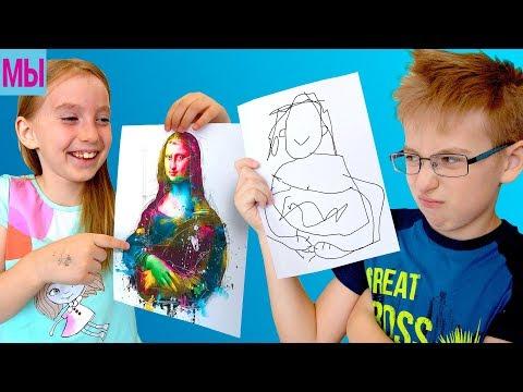3 МАRКЕR СНАLLЕNGЕ Мальчики против девочек Челлендж 3 Маркера Мы Рисуем Видео для детей кids vidео - DomaVideo.Ru