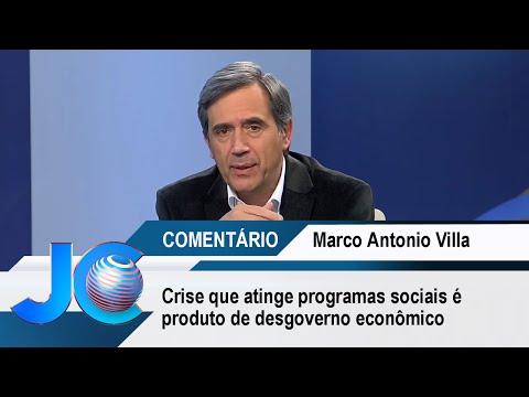 Crise que atinge programas sociais é produto de desgoverno econômico, afirma Villa