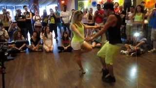 Awesome Dance! Jefferson Dadinho&Aline Cleto - International Miami Zouk Festival 2014 - Faz Sentir