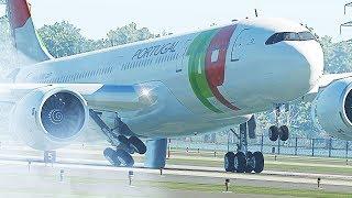 A330 Landing Gear Failure Emergency Landing - X-Plane 11