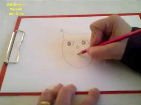 Zeichnen lernen für Anfänger und Kinder. Eule malen (sehr einfach)