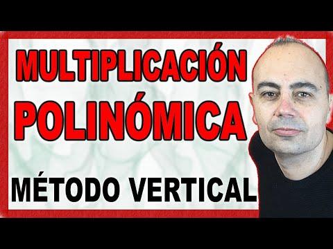 Polinomios. Multiplicación. Método vertical. Aprende a multiplicar polinomios.