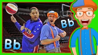 Learn Letters for Toddlers with Blippi and the Globetrotters | The Letter B