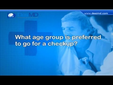 What age group prefered to go for Health Checkup? – DesiMD