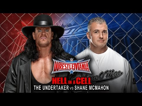 WWE Wrestlemania 32 - The Undertaker vs Shane Mcmahon (Hell in a Cell) Match