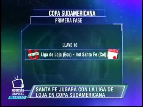 , title : 'Santa Fe jugará contra Liga de Loja (Ecuador) en Copa Sudamericana'