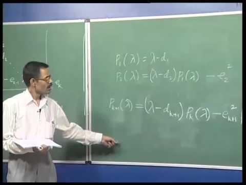 Mod-02 Lec-09 Householder Method, Tridiagonal Matrices