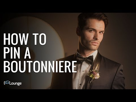 Quick Tip For Wedding Photographers: How To Pin A Boutonniere (видео)