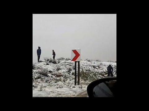 Wetterumschwung: Schneetreiben in Südafrika