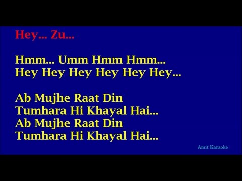 Video Ab Mujhe Raat Din - Sonu Nigam Hindi Full Karaoke with Lyrics download in MP3, 3GP, MP4, WEBM, AVI, FLV January 2017