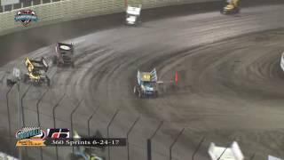Knoxville Raceway 360 Highlights June 24. 2017