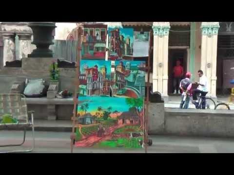 Every saturday art market on Paseo del Prado in Havana Vieja
