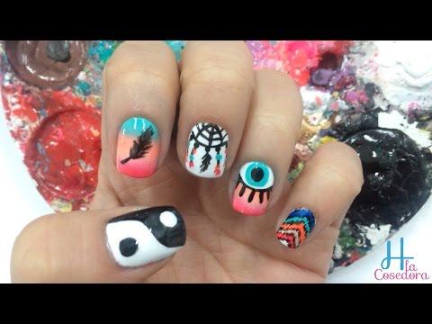Decorado De Unas Atrapasuenos Nail Art Hippie Yana Smotret Onlajn