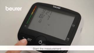 This video shows you how to use the BM 40 blood pressure monitor from Beurer for the first time.