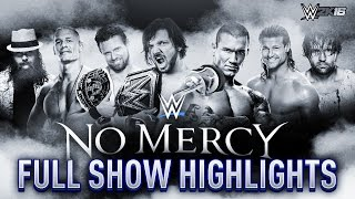 WWE 2K16 Simulation: No Mercy 2016 Full Show - Epic Highlights