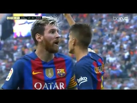 Valencia Vs Barcelona 2-3 All Goals & Highlights 22.10.2016 | Resumen Y Goles