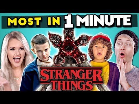 Can YOU Name The Most STRANGER THINGS Characters In 1 MINUTE? | Most In A Minute