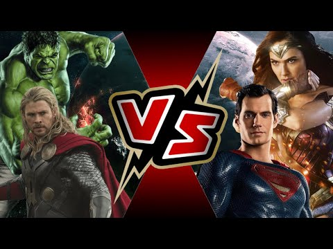 Thor and Hulk VS Superman and Wonder Woman | BATTLE ARENA