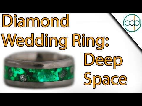 Making a Diamond and Deep Space Wedding Ring
