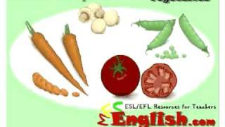Vegetables - English Vocabulary Lessons