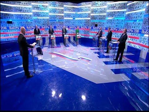 Теледебаты кандидатов в Президенты РФ 2018 Эфир от 01.03.2018 в 08:05 МСК на Первом Канале.