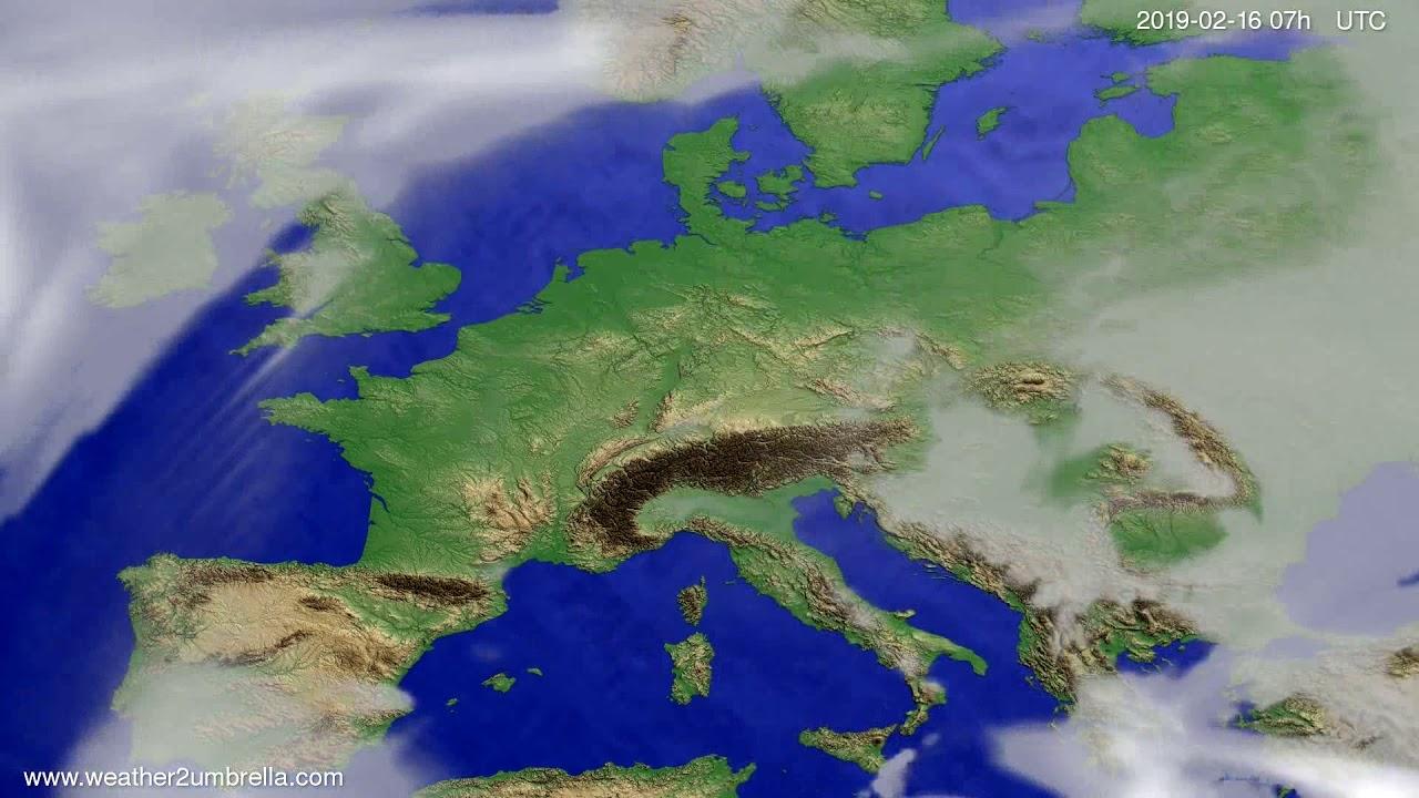 Cloud forecast Europe 2019-02-14
